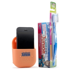 FLUOR-KIN JUNIOR PASTA DENTAL SABOR FRESA 75ML+CEPILLO+AMPLIFICADOR DE REGALO