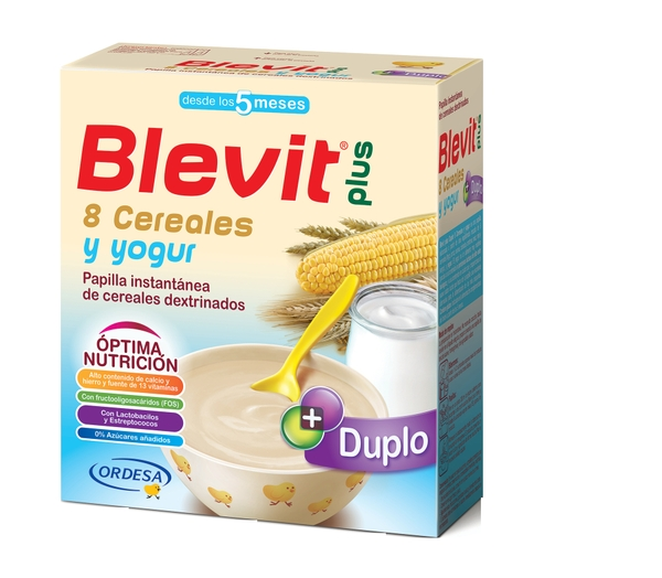 BLEVIT PLUS 8 CEREALES Y YOGUR 600GR