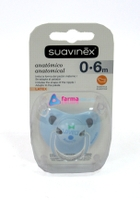 CHUPETE SUAVINEX LOVELY AZUL ANATOMINCO LATEX 0-6 MESES
