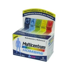 MULTICENTRUM MULTIVITAMINICO Y MULTIMINERAL HOMBRE 30 COMPRIMIDOS