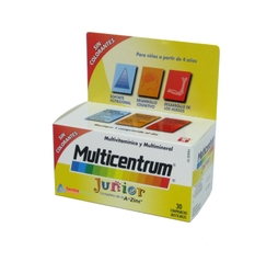 MULTICENTRUM MULTIVITAMINICO Y MULTIMINERAL JUNIOR A PARTIR DE 4 AÑOS 30 COMPRIMIDOS