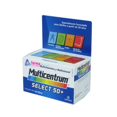 MULTICENTRUM SELECT 50+ MULTIVITAMINICO Y MULTIMINERAL 30 COMPRIMIDOS