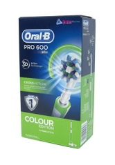 CEPILLO DENTAL ELECTRICO ORAL B PRO600 CROSS ACTION COLOR EDITION VERDE