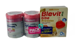 BLEMIL PLUS 2 OPTIMUM DUPLO 2X800GR+8 CEREALES BIBE DE REGALO