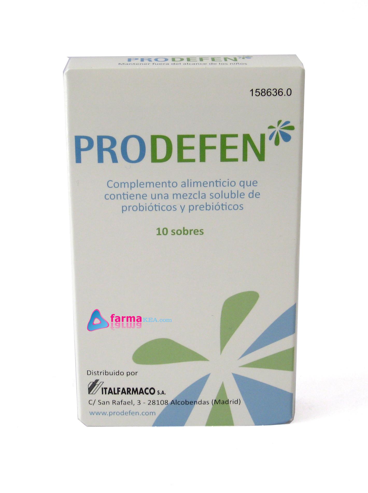 Farmakea prodefen con probioticos y prebioticos 10 sobres - Alimentos con probioticos y prebioticos ...